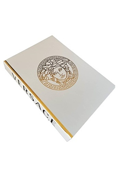 Akayev Dekoratif Kitap Kutu Versace Beyaz Beyaz